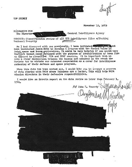 ケネディ大統領直筆の極秘UFOレポートを発見!?